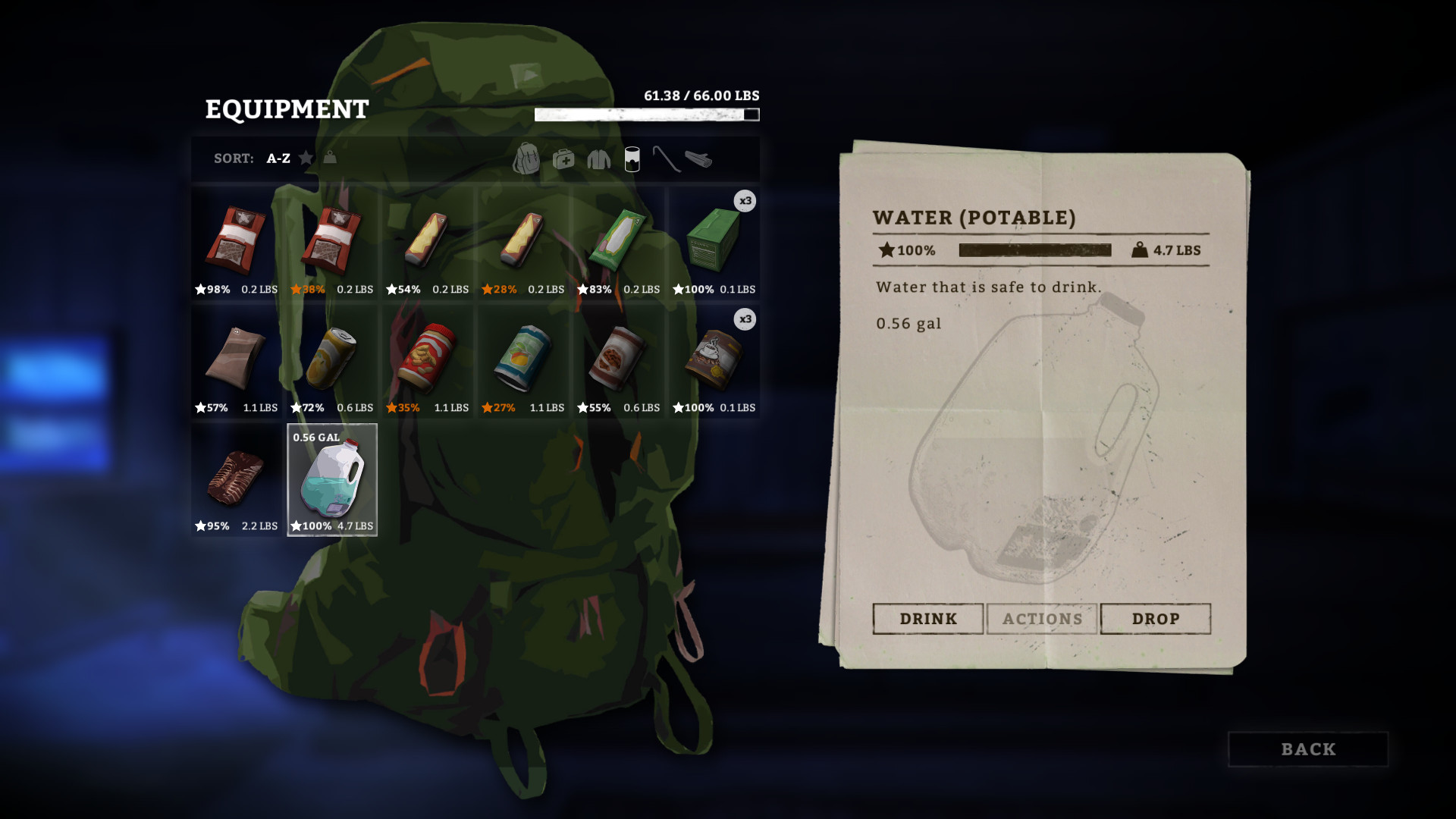 The gallon water jug in The Long Dark